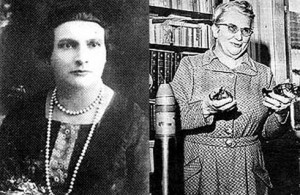 Alzira Soriano (à direita), a primeira mulher prefeita da América do Sul. Carlota Pereira (à esquerda), eleita para a constituinte de 1933.