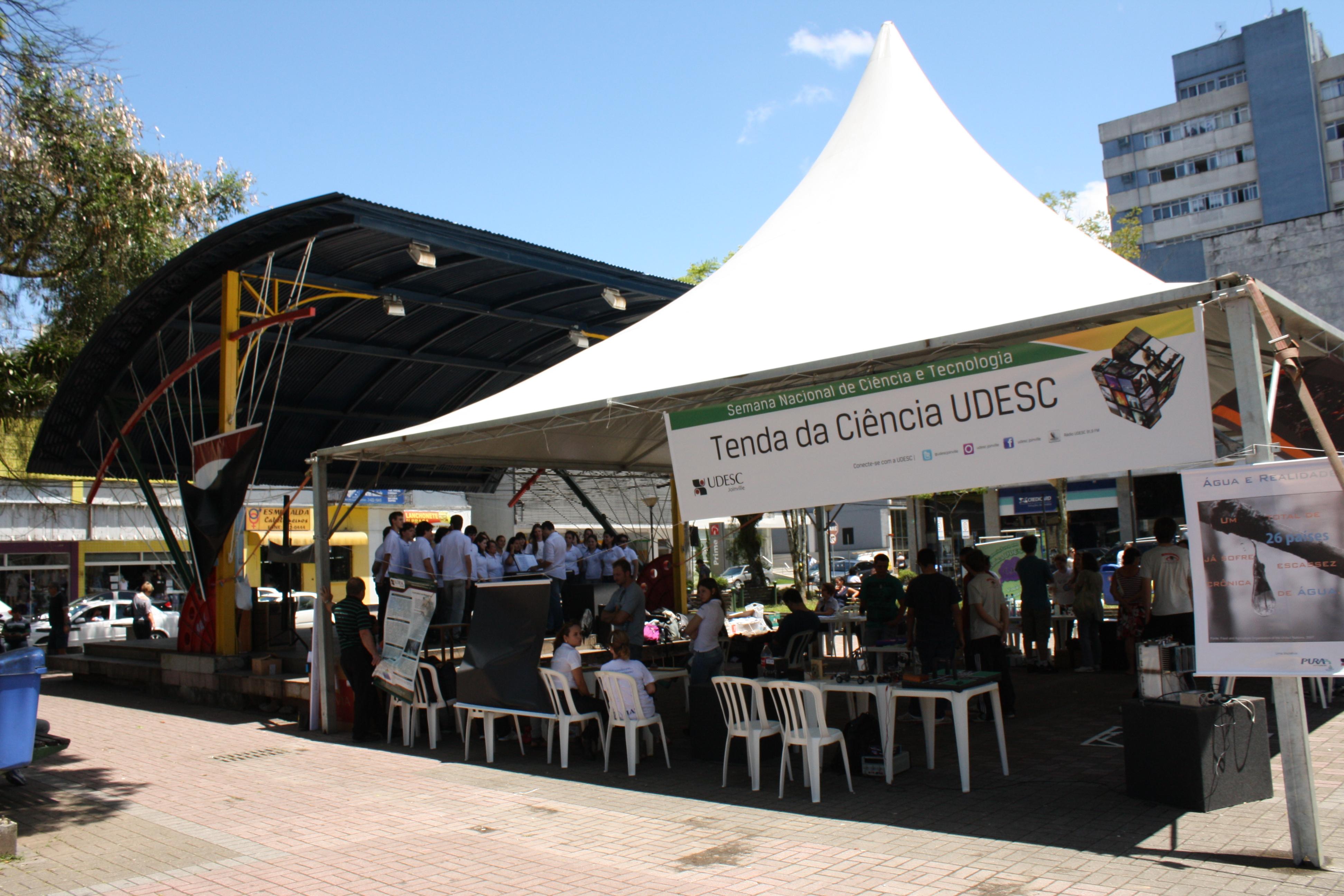 Tenda da Ciência UDESC estará presente no centro de Joinville nesta sexta-feira – 25/10