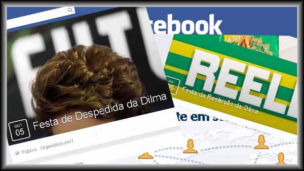 Facebook já tem 49 festas para celebrar derrota ou vitória eleitoral de Dilma