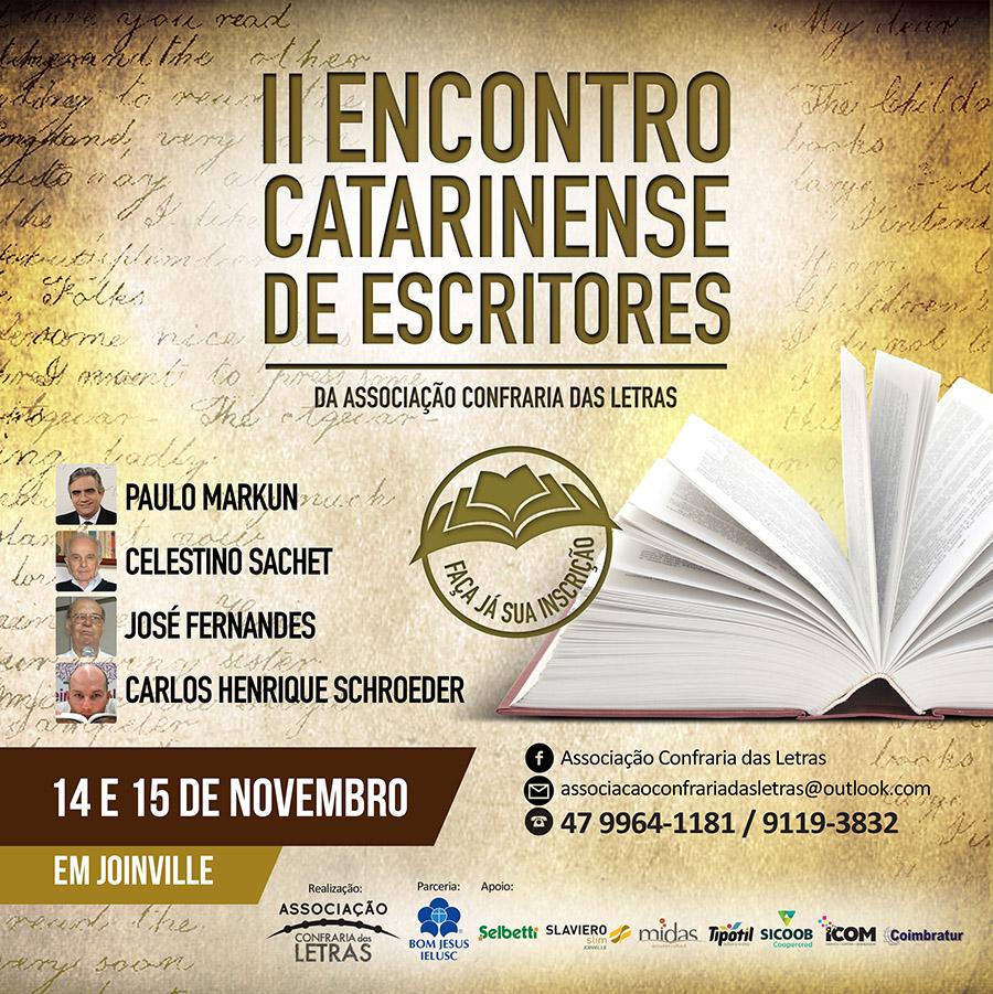 II Encontro Catarinense de Escritores faz de Joinville a capital catarinense da literatura em novembro