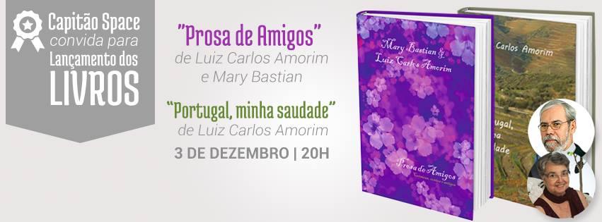 Literatura – Uma noite, dois talentos, nesta quinta-feira (3/12) em Joinville (SC)