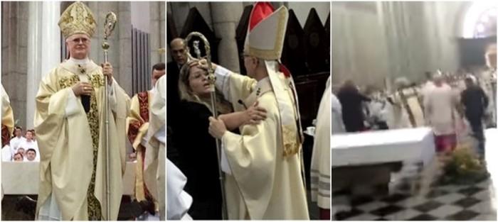 Fascismo – Cardeal de São Paulo é agredido em missa na Catedral da Sé