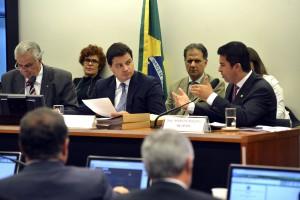 Brasília – O presidente do Conselho de Ética, José Carlos Araújo, o Vice-Presidente, Sandro Alex, e o relator, Marco Rogério, durante a reunião do Conselho de Ética da Câmara dos Deputados. (José Cruz/Agência Brasil)