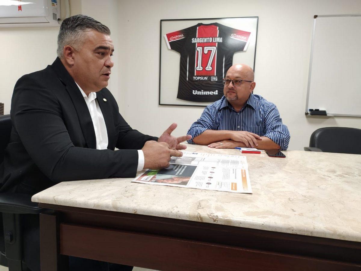 """""""Só com o meu aval"""", deputado Sargento Lima (PSL) sobre apoio do presidente a prefeituráveis em Joinville (SC)"""
