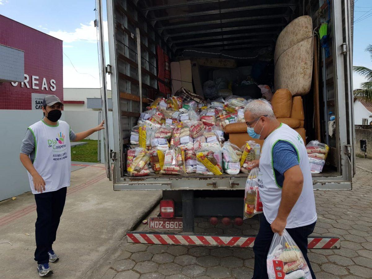 Solidariedade – Garuva recebe mais de 5 toneladas de alimentos