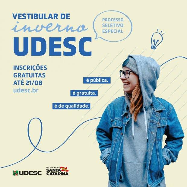 Vestibular de Inverno Udesc – Processo seletivo aceita inscrições gratuitas e segue até sexta-feira (21)