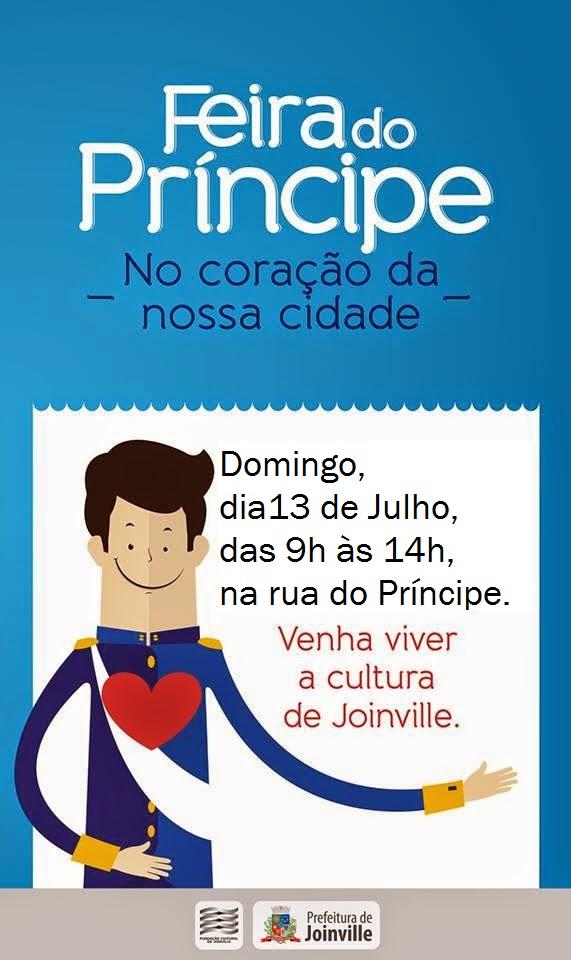 Neste domingo (13/7) acontece mais uma edição da Feira do Príncipe em Joinville