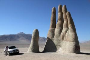 La mano del desierto, um dos pontos turísticos da viagem