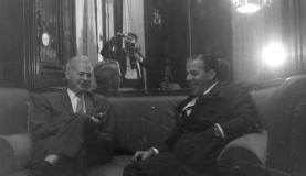 O presidente Jango e o embaixador dos Estados Unidos, Lincoln GordonArquivo Nacional