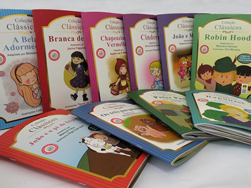 Crianças com deficiência visual têm acesso à clássicos da literatura infantil