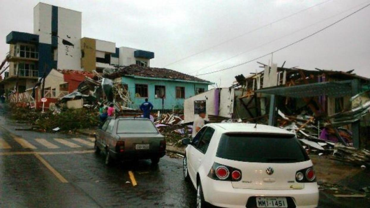 Xanxerê: Ventos atingiram a cidade a mais de 200km por hora