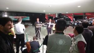No térreo do Planalto, o governador do Maranhão, Flávio Dino, ataca formuladores e apoiadores do impeachment