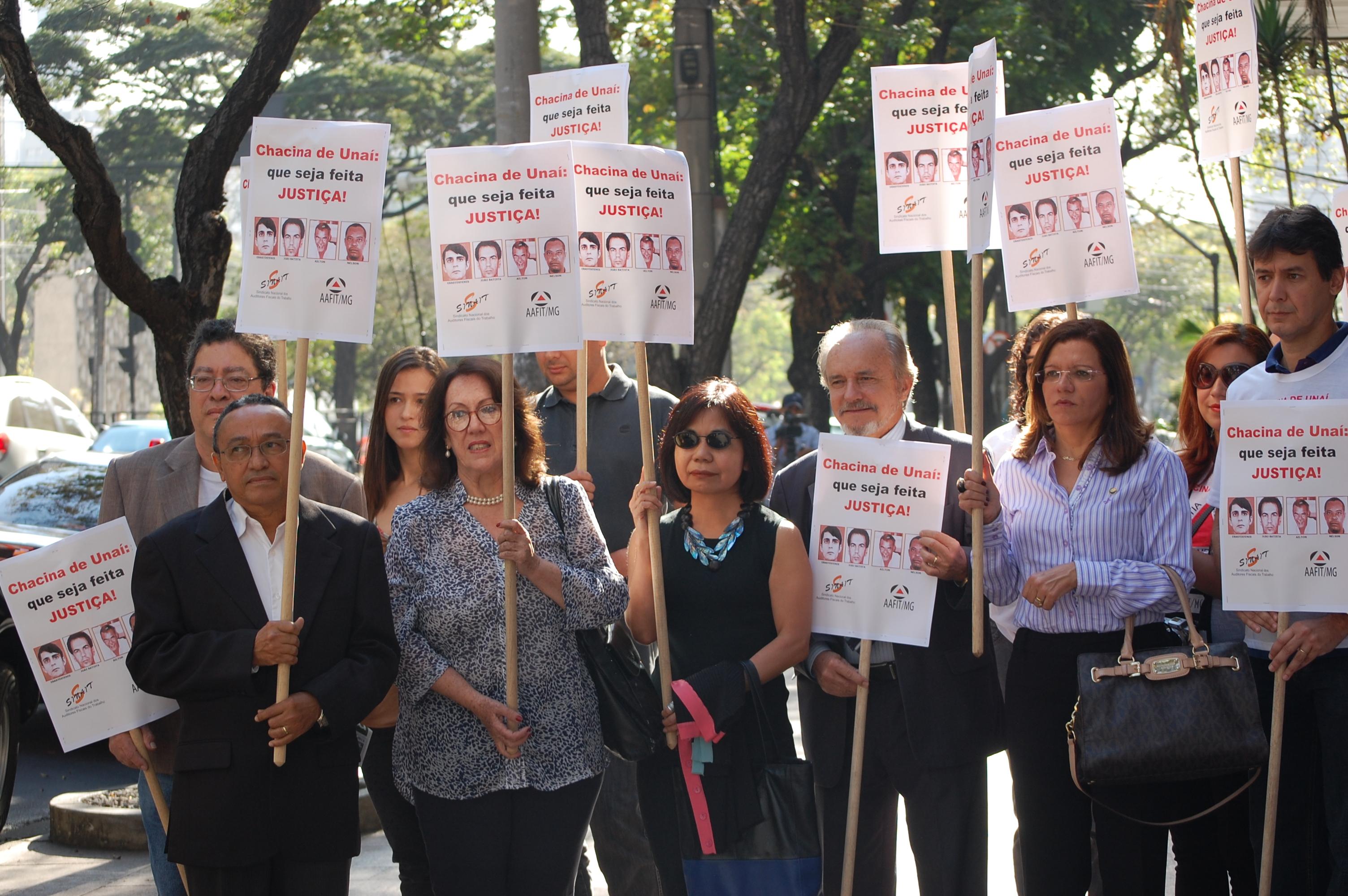 Impunidade – Auditores fiscais do trabalho pedem a prisão dos mandantes da Chacina de Unaí