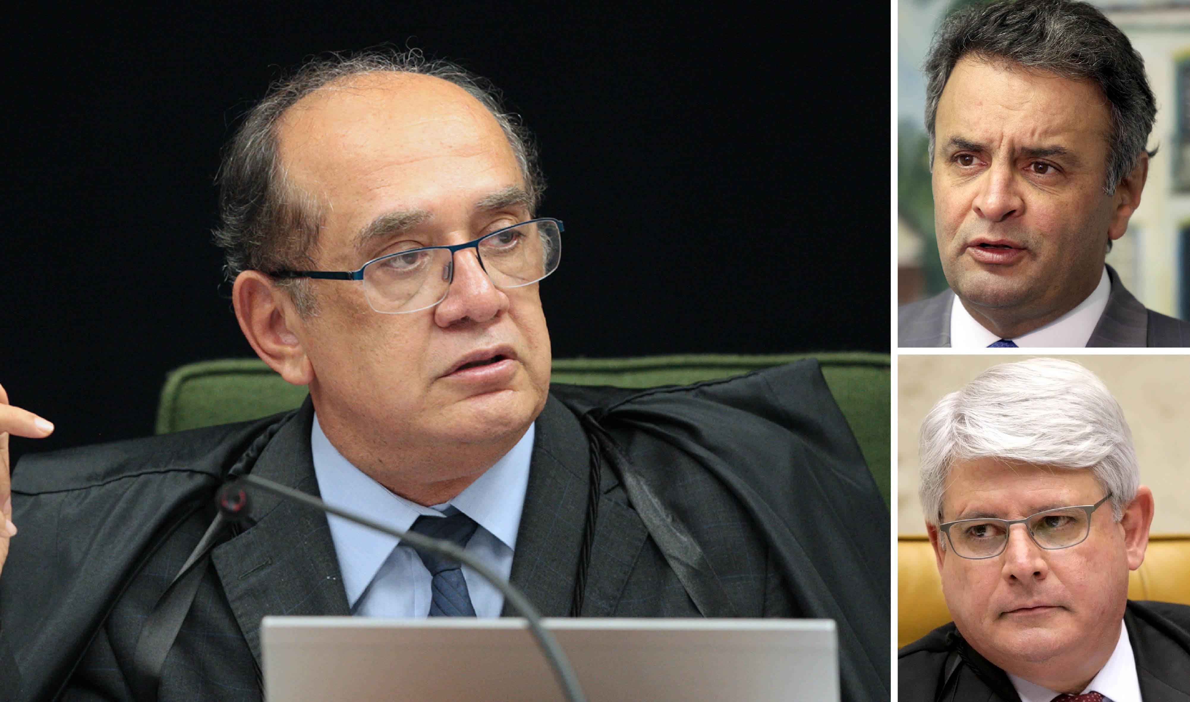 Vergonha – Gilmar Mendes suspende coleta de provas contra Aécio Neves (PSDB)