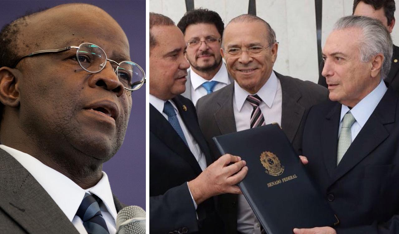 Joaquim Barbosa critica impeachment e diz que Temer não tem legitimidade