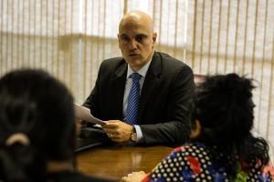 Indígenas estiveram com Alexandre de Moraes em seu primeiro dia como ministro