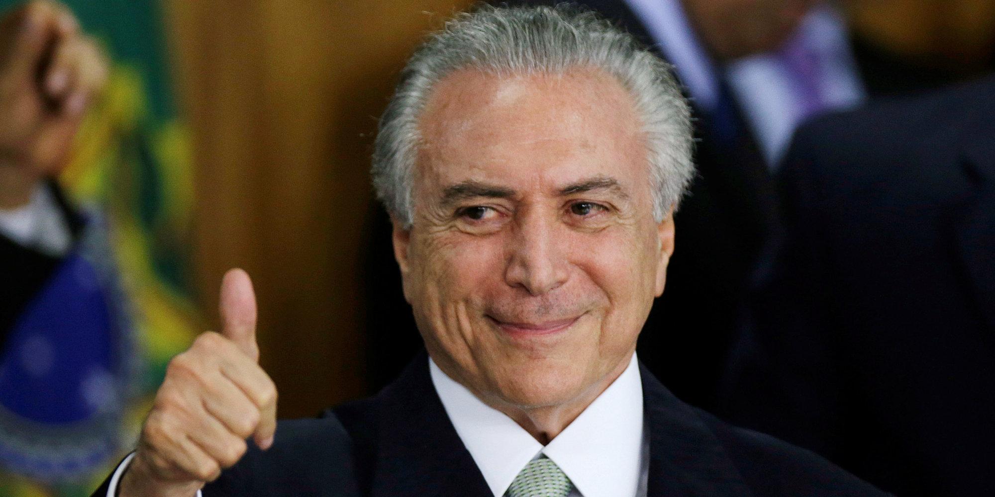 Michel Temer (PMDB) faz piada com a situação dos desempregados brasileiros