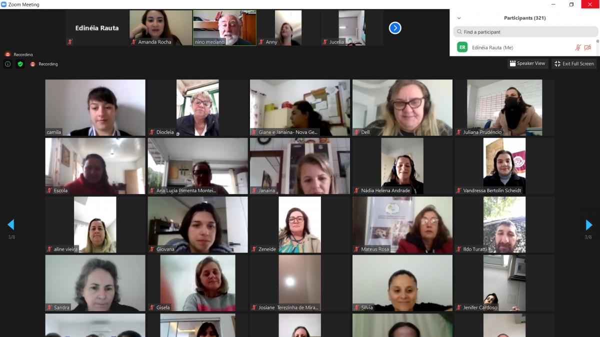 Encontro virtual reúne gestores escolares da Grande Florianópolis