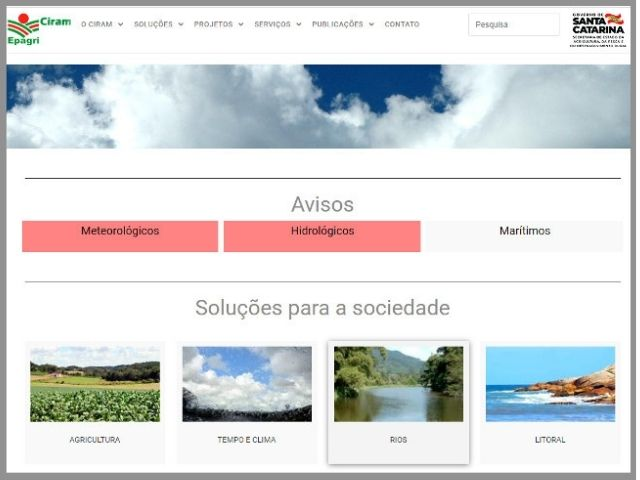 Epagri/Ciram lança novo site